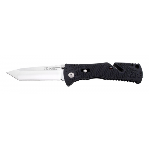 SOG Trident Mini Assisted Opening Knife with Satin Tanto Blade